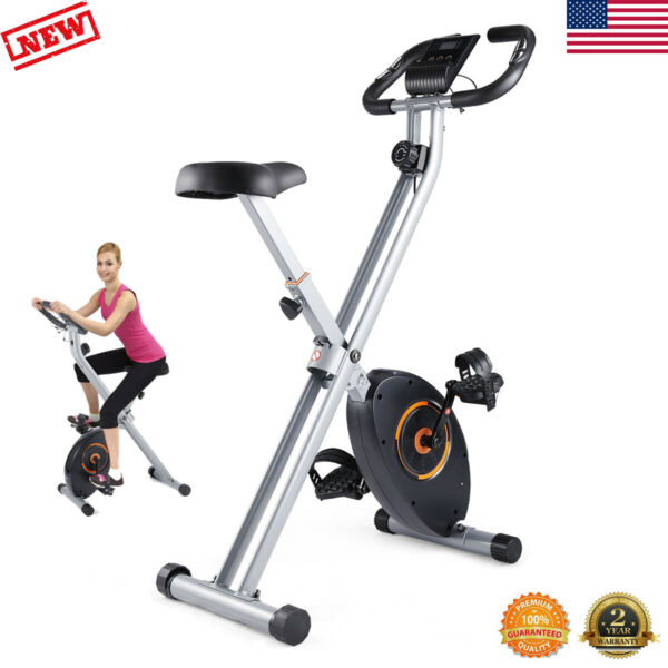 Folding Exercise Bike Magnetic Stationary Indoor Cycling Cardio Home Gym Workout $189.99