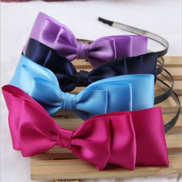 Sexy Lady Big Bowknot Ribbon Headband Bow Head Band Clip Hair Band Accessories