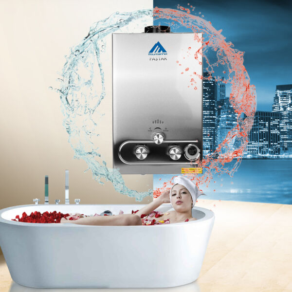 3.2GPM LPG Gas Tankless Boiler Stainless Steel Instant 12L Hot Water Heater