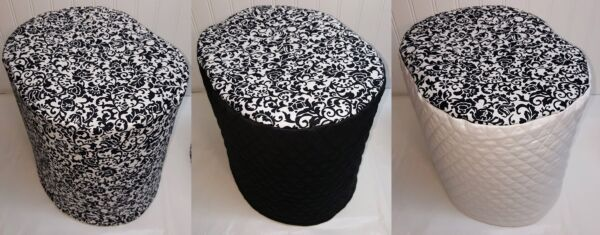 Black & White Floral Damask Cover Compatible with Keurig Coffee Brewing Systems