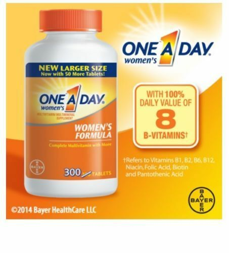 One A Day Women's Multivitamin 300 Tablets Complete Vitamin BAYER Bone Health
