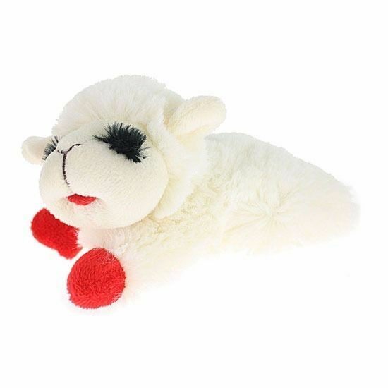 Lamb Chop Pet Squeaker Multipet Plush Dog Toy Adorable Cuddle Chew  $6.97