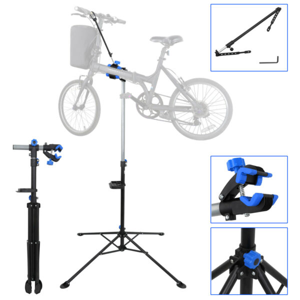 Pro Bike Adjustable 42quot; To 74quot; Repair Stand W Telescopic Arm Bicycle Cycle Rack $45.99