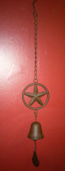 CAST IRON STAR HANGING BELL--24