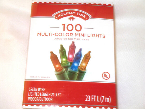 100 Mini Christmas Lights Clear or Multi Color Party Indoor Outdoor Qty Discount