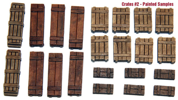 1 35 Scale resin kit Wooden Crates Set #2 tank stowage diorama accessory