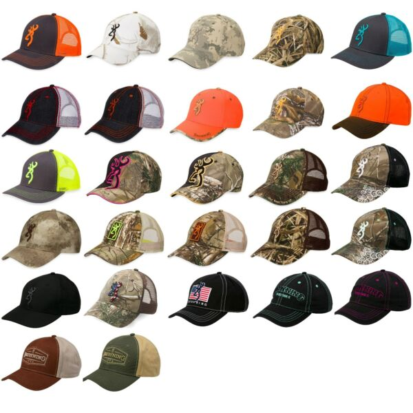 Browning Head Gear Baseball Caps Hat Denim Desert Camo Hunting Patriot Snow Mesh