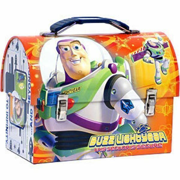 Tin Toolbox Lunch Snack Toy Carrier TOY STORY Buzz Lightyear Orange NEW $9.19