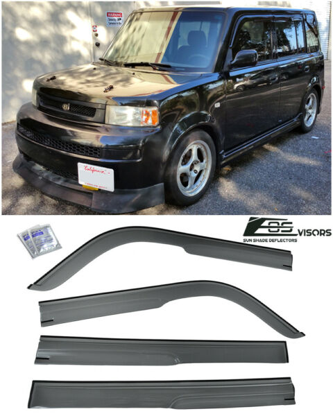 EOS Visors Mugen Style Side Window Visor Rain Guard Deflector For 04-07 Scion xB