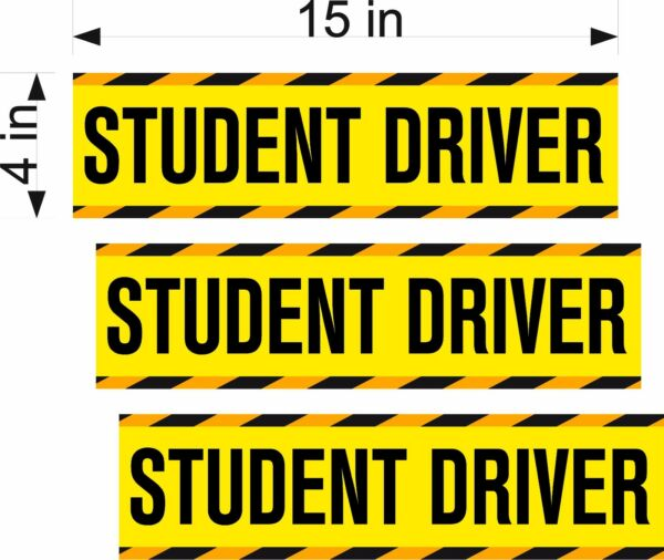 Student Driver Magnets / 3 PACK / 15