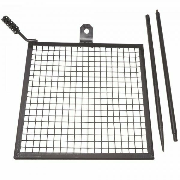 Titan Outdoors Adjustable Campfire Swivel Grill HD Wire Cooking Grate Spike Pole