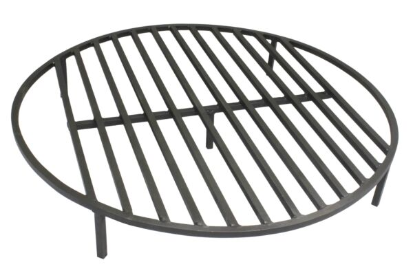 Round Fire Pit Grate 30'' Heavy Duty Grill Cooking Campfire Camp Ring 12