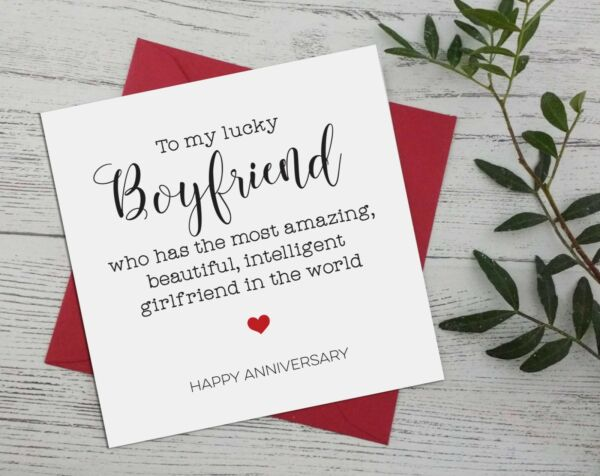Anniversary funny for boyfriend from girlfriend greeting card cheeky rude A17 GBP 2.99