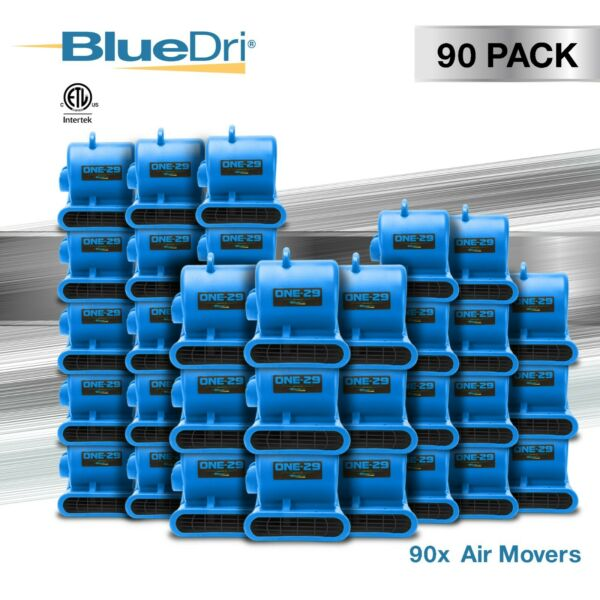 90 Pack BlueDri® ONE-29 Air Mover Carpet Dryer Blower Fan High CFM Low Amp BLUE