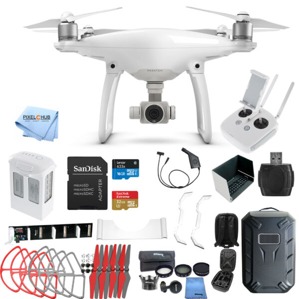 DJI Phantom 4 Drone W/ 4K Camera MEGA EVERYTHING YOU NEED BUNDLE! NEW!