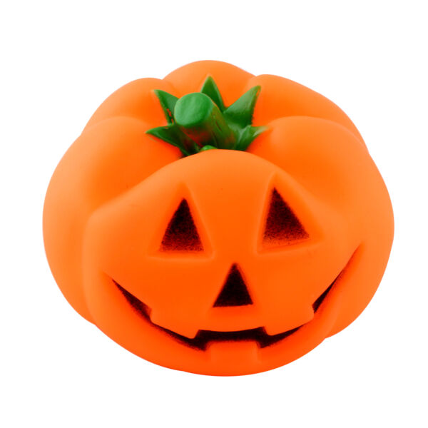 Rubber Squeaky Pumpkin Pet Toys For Dog Puppy Supplies Halloween Gift $5.98