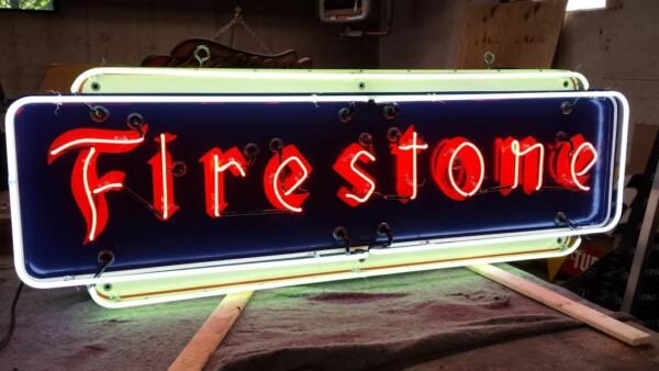 New Firestone Painted Sign with Neon 72