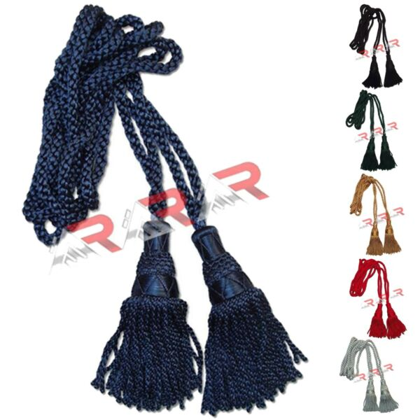 Highland Silk Scottish Great Brand AAR Bagpipe Drone Cord Navy Color Blue New