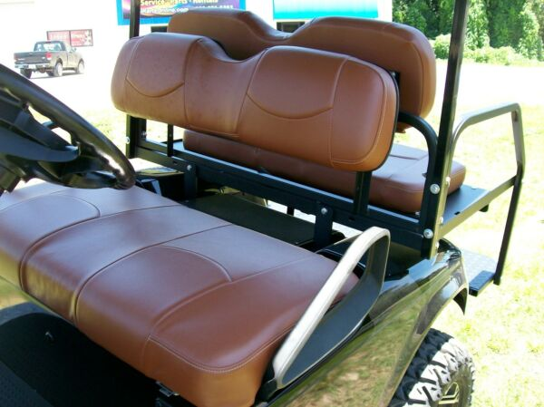 Club Car DS #x27;00 Golf Cart Front Seat Replacement amp; Custom Covers Set Saddle $239.99