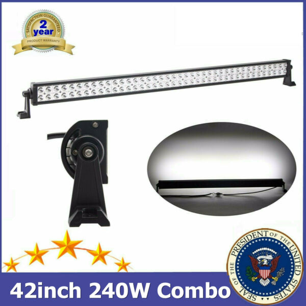 240W 42#x27;#x27; LED Work Light Bar Combo Beam 12V 24V Toyota Chevrolet Roof SUV RZR TP $40.30