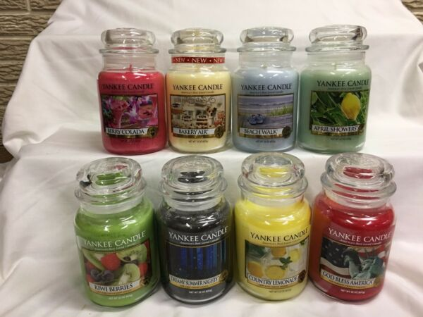 YANKEE CANDLE Large 22 oz Candles U PICK Single Wick SPRING SUMMER FRESH Scents