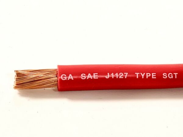 2 Gauge COPPER Battery Cable RED SAE J1127 SGT Automotive Power Wire 10' FT