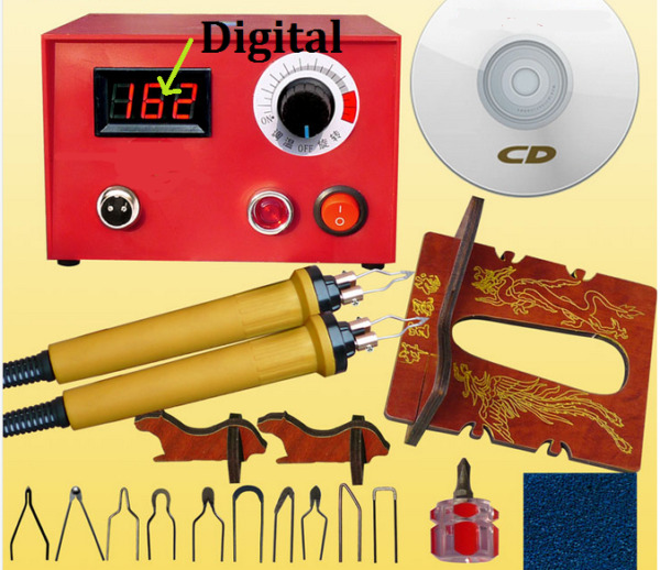 HOT 50W Digital type Pyrography Machine Gourd Wood Pyrography Crafts Tool