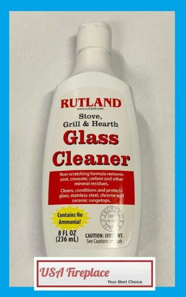 RUTLAND Stove Grill & Hearth Glass Cleaner 8 oz. FREE USA SHIPPING! #84