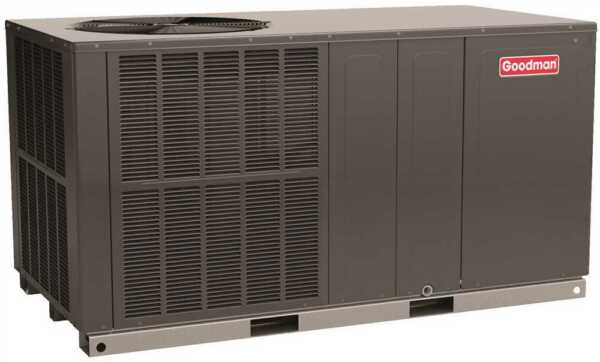 Goodman 14 SEER 4 Ton Self Contained Dedicated Horizontal Packaged Heat Pump AC