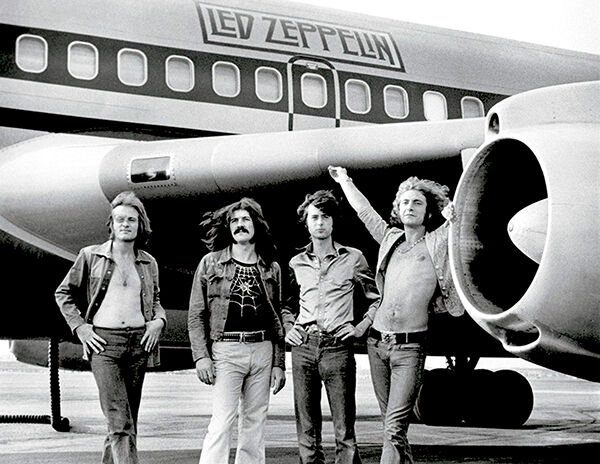 Led Zeppelin The Starship Airplane 1973 Band Promo Photo Poster $32.99