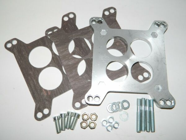 NEW Carter Rochester 4 Barrel to Holley Carburetor Adapter w Hardware amp; Gaskets $18.95