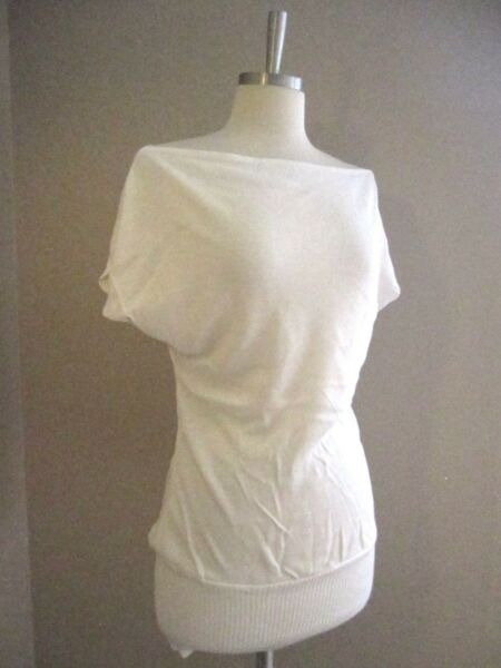NEW Ivory Boat Neck Loose Long Top Tunic S