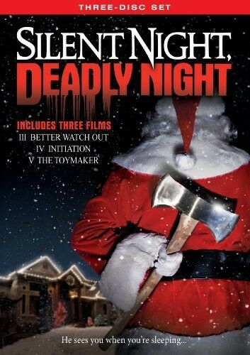Silent Night Deadly Night Three Disc Set New DVD O Card Packaging W