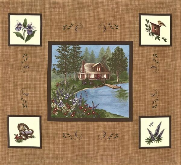 LADY SLIPPER LODGE Fabric Blocks Panel Moda Fabric Squares by Holly Taylor