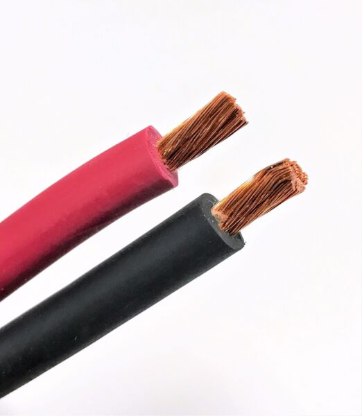 Welding Cable Red Black 8 AWG GAUGE COPPER WIRE BATTERY SOLAR LEADS MADE IN USA