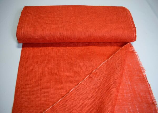 Burlap Orange Peach Jute Upholstery Fabric 46quot;W 10 Oz Table Runner By The Yard