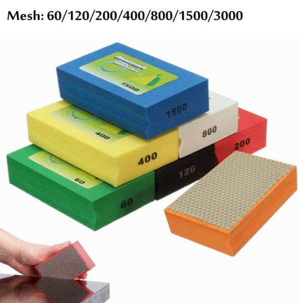 Diamond Polishing Hand Pad Block For Granite Marble Stone Grinding 60-3000 Grit