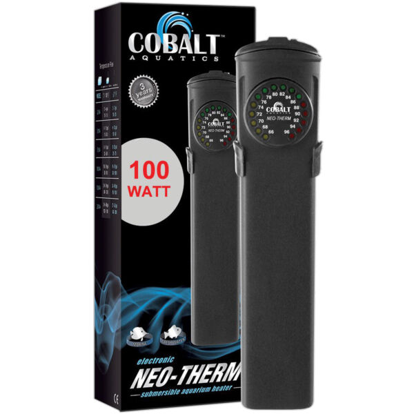 Cobalt Aquatics Neo-Therm 100 Watt Aquarium Heater w LED Display FREE USA SHIP!