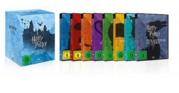 Harry Potter Box Komplettbox Teil 1+2+3+4+5+6+7.1+7.2 NEU OVP 8 DVDs Alle Teile