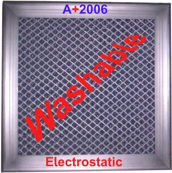 A+2006 ELECTROSTATIC AIR FILTER HIGH FLOW PERMANENT REUSABLE FURNACE HOME AC