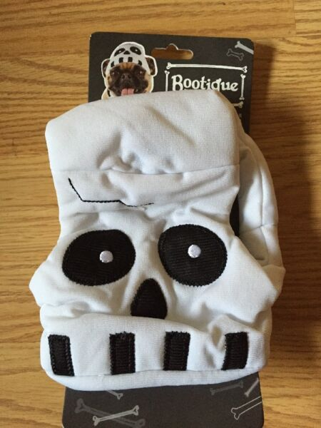 BOOTIQUE quot;SPOOKY DOGquot; SKULL HAT HEADPIECE Puppy Dog large xlarge $8.50
