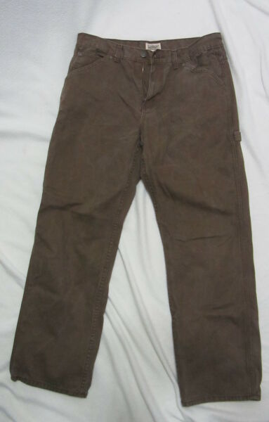 C.E. Schmidt work wear brown jeans mens 36 x 32 ~ EUC *flawless