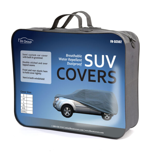 Car Cover Water Resistant Breathable UV Snow Heat Dust Rain Resistant XL