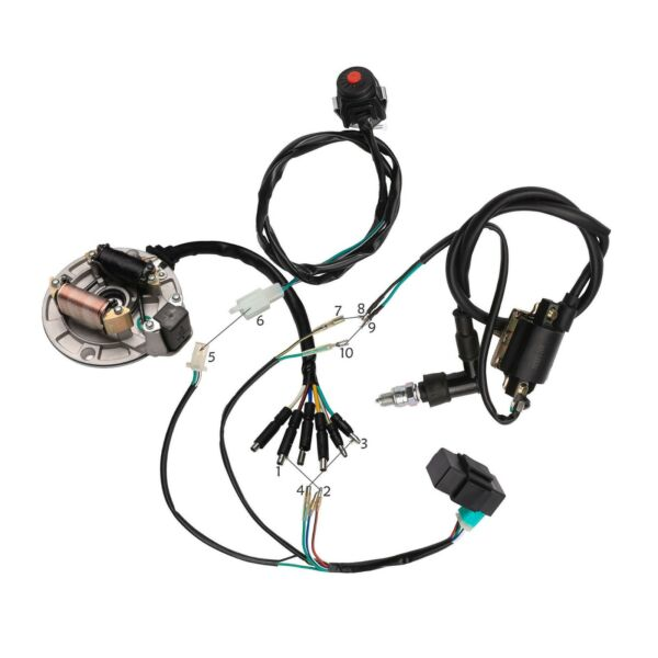 50 70 110 125CC Kick Start Wiring Harness CDI STATOR Ignition Coil Dirt Pit Bike $59.99