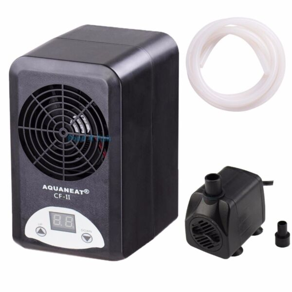 Aquarium Thermostat Chiller Heater 108W Adjustable Fish Tank+160GPH Water Pump