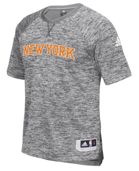 New York Knicks Adidas 2016 NBA Men's On-Court Authentic S/S Shooting Shirt