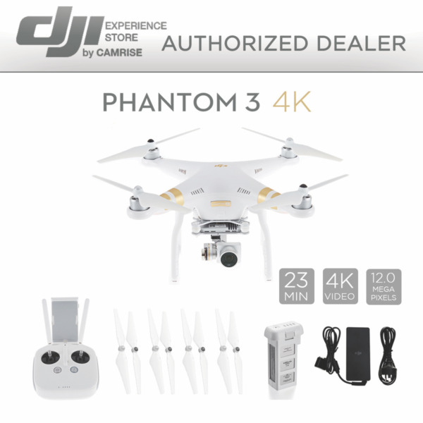 DJI Phantom 3 4K Quadcopter Drone with 4K Camera and 3-Axis Gimbal