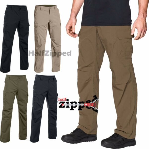 UNDER ARMOUR PANTS Men's Cargo UA Storm Tactical Patrol Office Workwear 1265491