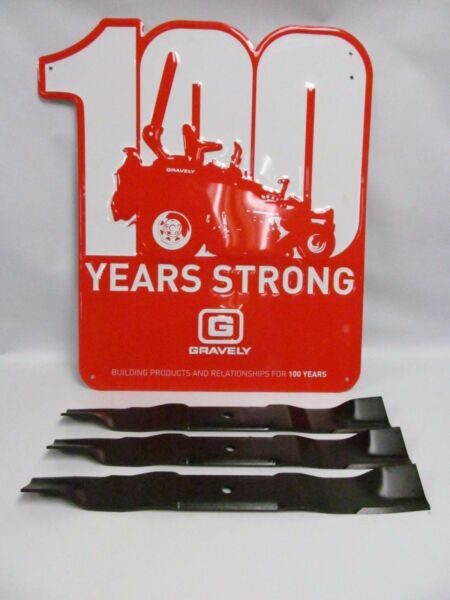 OEM Genuine Gravely Ariens 1 Set of 3 Lawnmower Blades 04965000