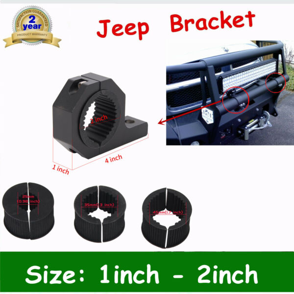2X 1#x27;#x27; 2#x27;#x27; MOUNT BRACKET TUBE CLAMPS FOR LED LIGHT BAR OFF ROAD BULL BAR HID OFF $16.00